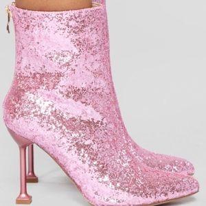 Fashion Nova Watch Me Shine Glitter Bootie